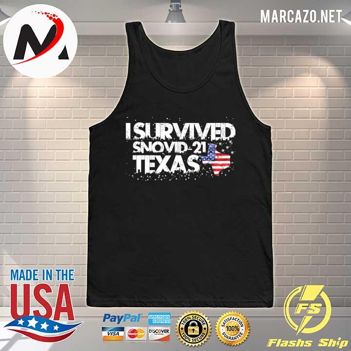 I Survived Snovid 2021 Texas American Shirt Tank-top