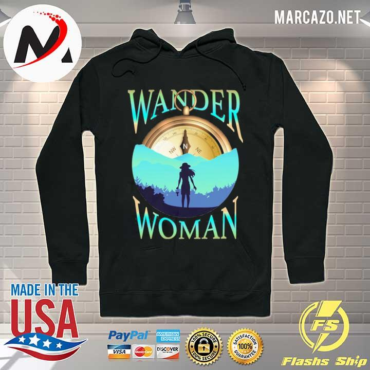 Wander woman compass outdoor hiking camping s Hoodie