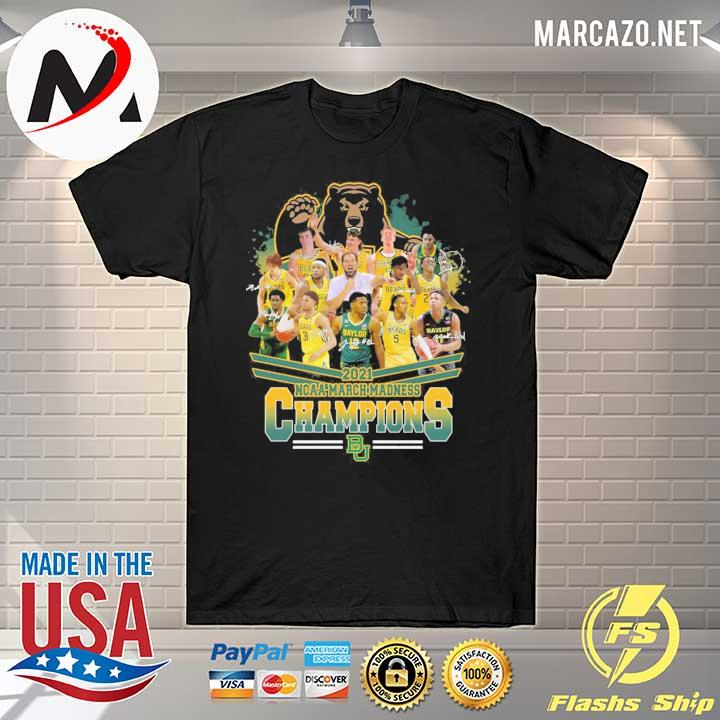 2021 NCAA March Madness Champions Signatures Shirt