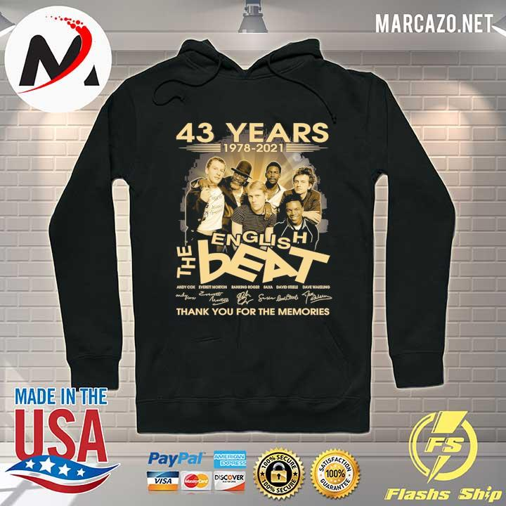43 Years 1978 - 2021 English The Beat Andy Cow Everett Morton signature thank you for the memories Hoodie