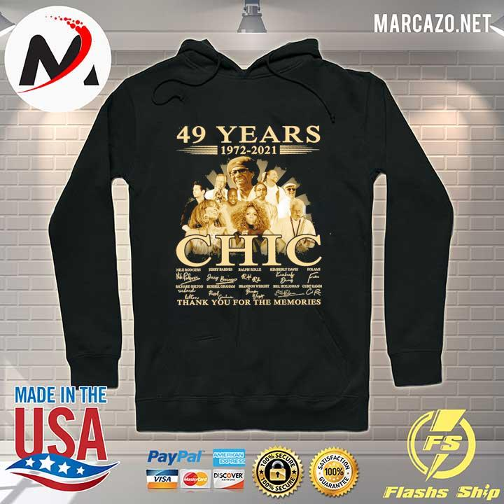 49 Years 1972 - 2021 Chic Nile Rodgers signature thank you for the memories Hoodie
