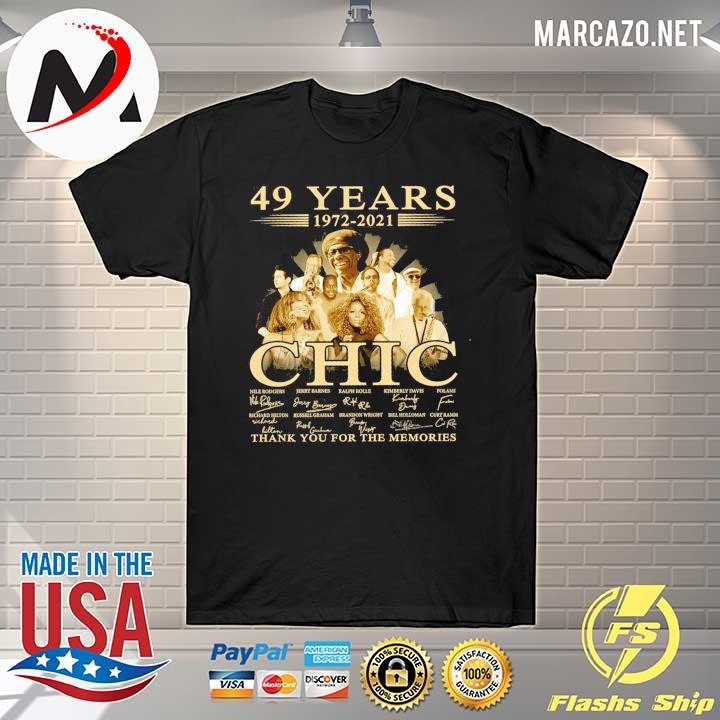 49 Years 1972 - 2021 Chic Nile Rodgers signature thank you for the memories shirt