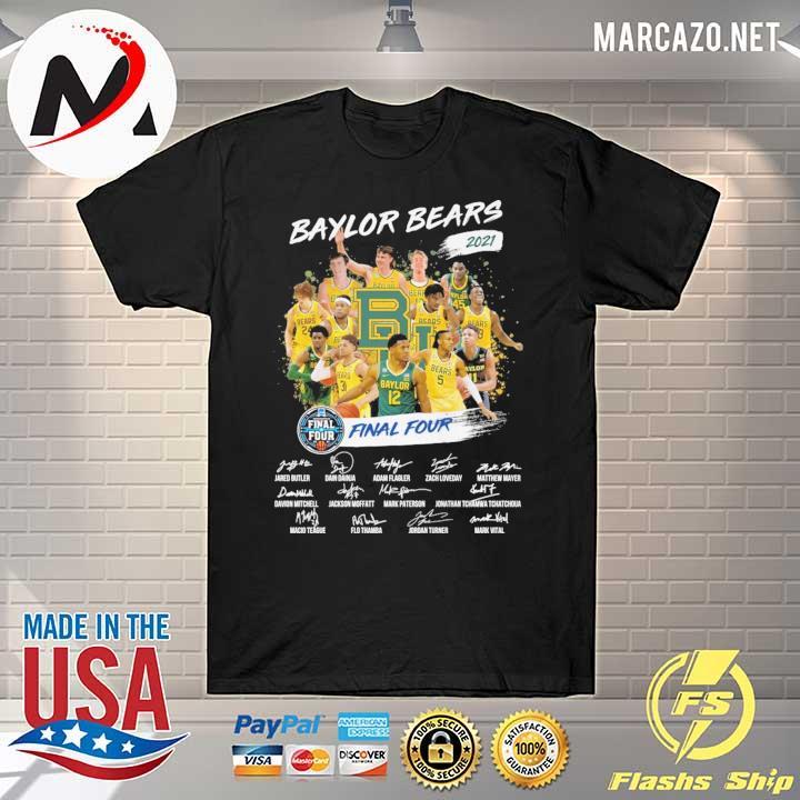 Baylor Bears 2021 Final Four Jared Butler Dain Dainja Signatures shirt