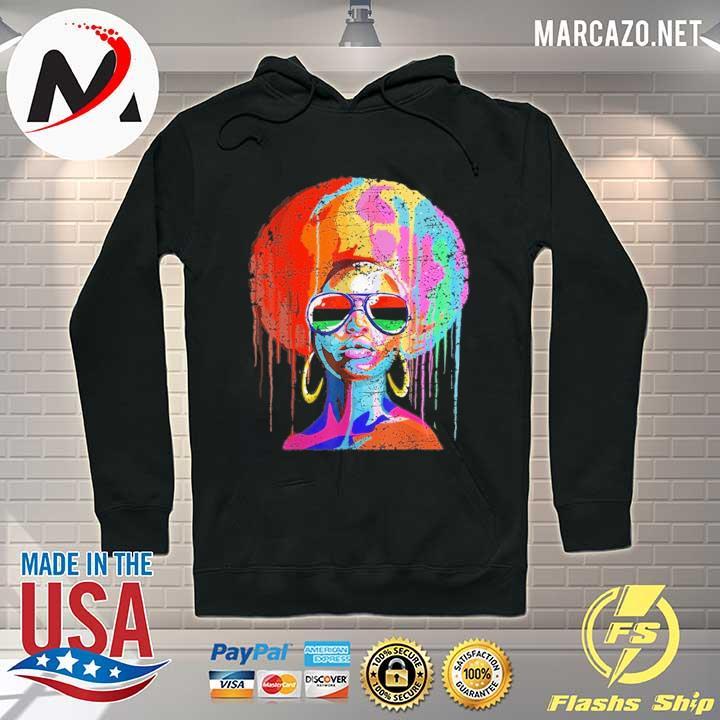 Black Queen Afro Melanin Art Shirt Hoodie