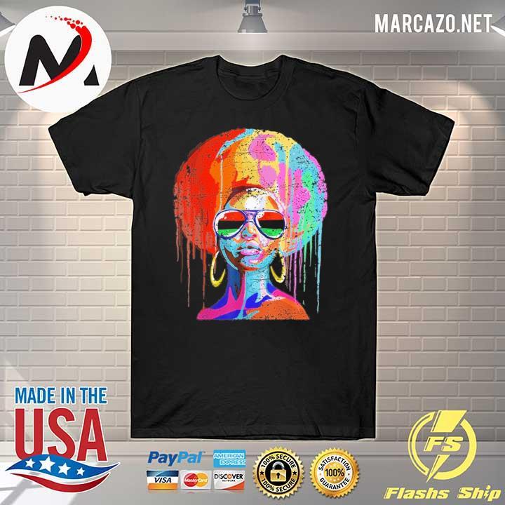Black Queen Afro Melanin Art Shirt