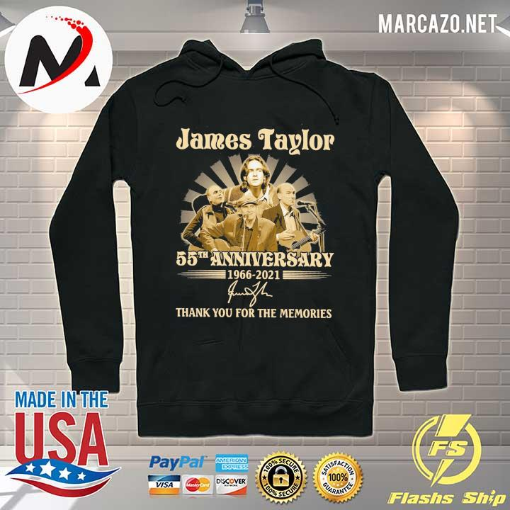James Taylor 50th anniversary 1966 - 2021 Signatures Thank You For The Memories Shirt Hoodie
