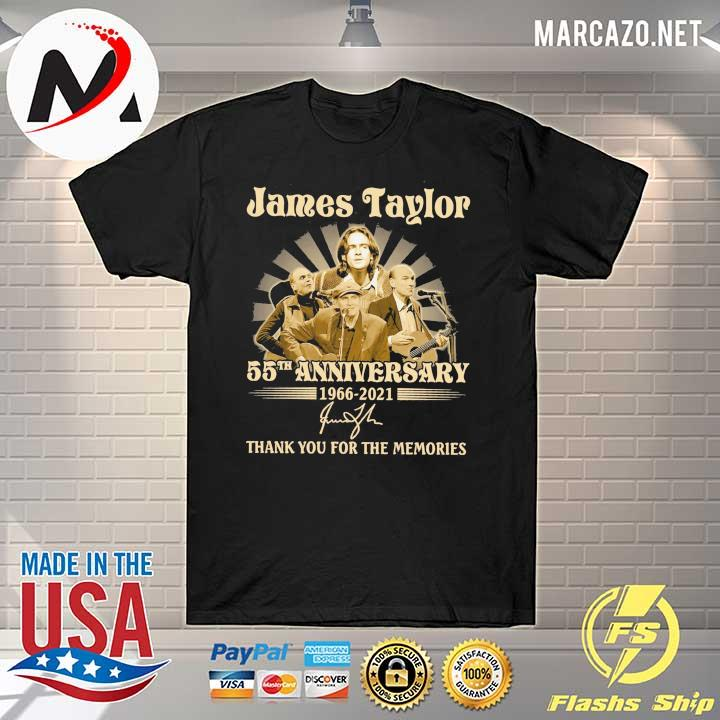 James Taylor 50th anniversary 1966 - 2021 Signatures Thank You For The Memories Shirt