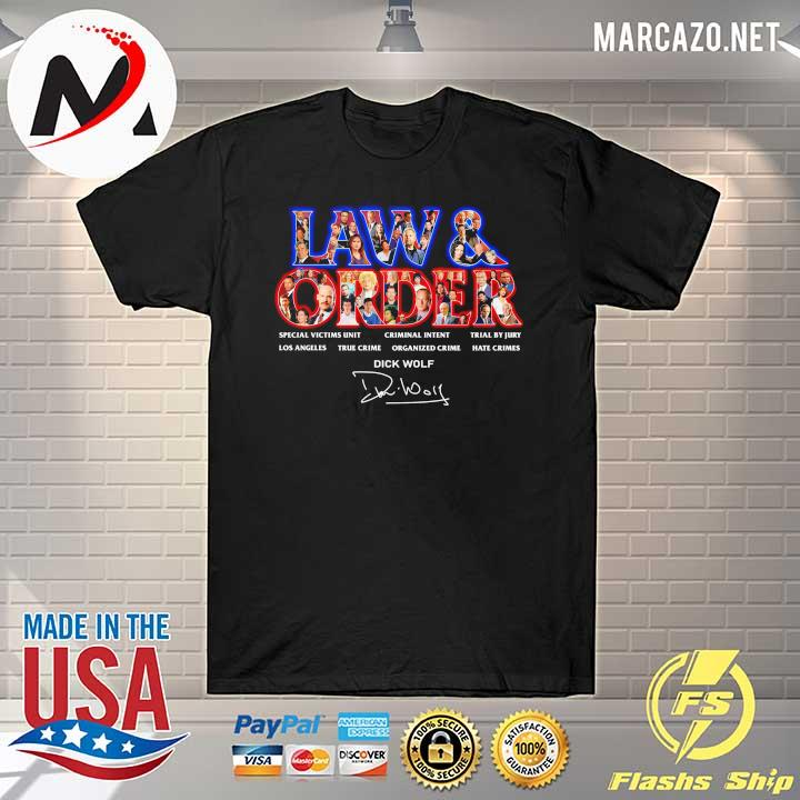 Jaw & Order Special Victims Unit Criminal Intent Trial By Jury signaute shirt