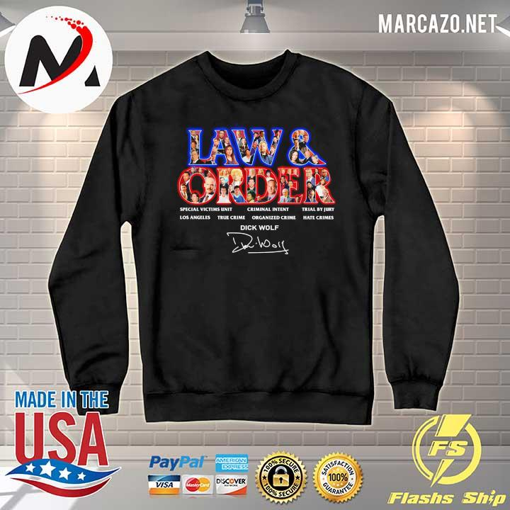 Jaw & Order Special Victims Unit Criminal Intent Trial By Jury signaute Sweater