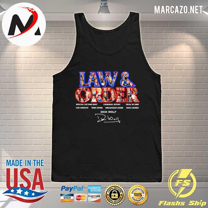 Jaw & Order Special Victims Unit Criminal Intent Trial By Jury signaute Tank-top