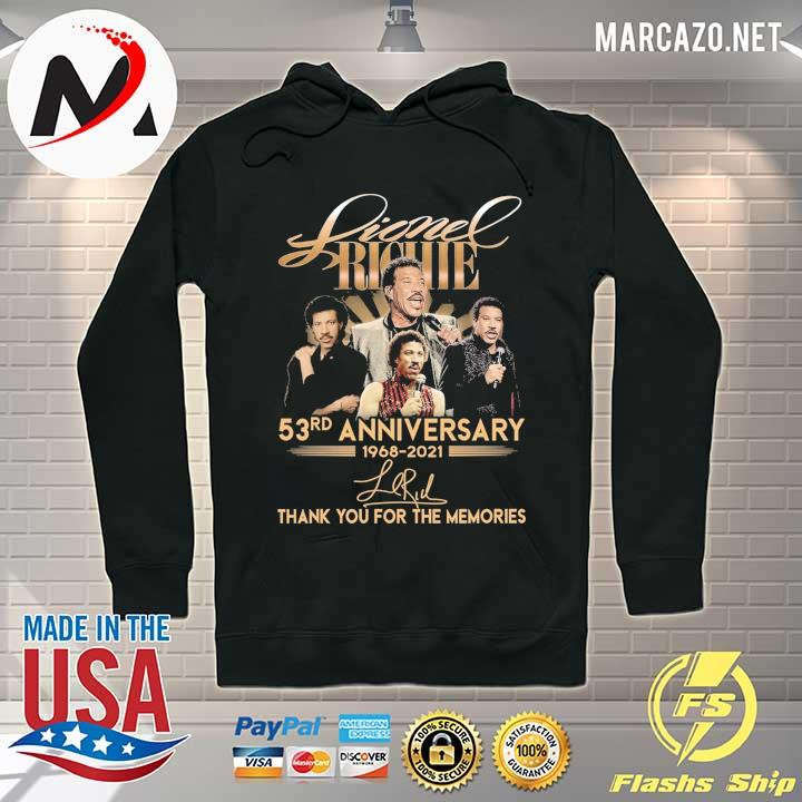 Lionel Richie 58rd Anniversary 1968 - 2021 Signature Thank You For The Memories Shirt Hoodie