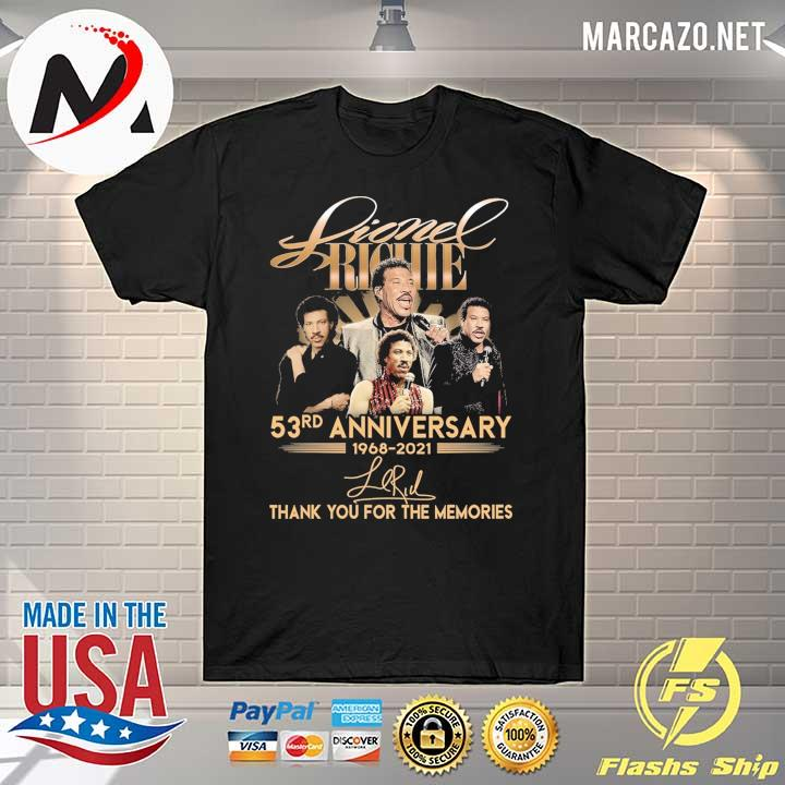 Lionel Richie 58rd Anniversary 1968 - 2021 Signature Thank You For The Memories Shirt
