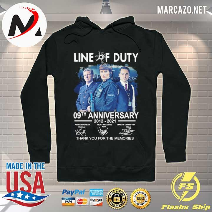 Live Of Duty 09th Anniversary 2021 - 2021 Adrian Dunbar Vicky Mcclure Martin Compston Signatures Thank You For The Memories Shirt Hoodie