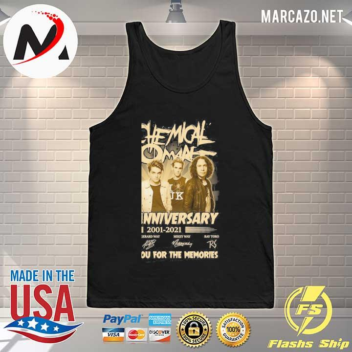 My Chemical Romance 20th Anniversary 2001 - 2021 Signatures Thank You For The Memories Shirt Tank-top