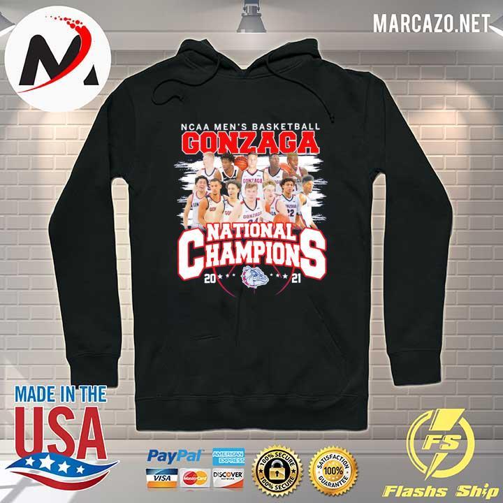 NCAA Men's Basketball Gonzaga National Champions 2021 Shirt Hoodie