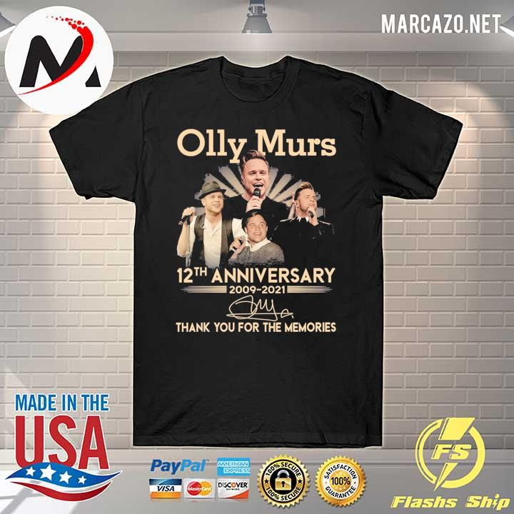 Olly Murs 12th Anniversary 2009 - 2021 Signature Thank You For The Memories Shirt
