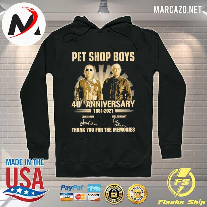 pet ship boys 40th anniversary 1981 - 2021 chris lowe neil tennant signatures thank you for the memories Hoodie