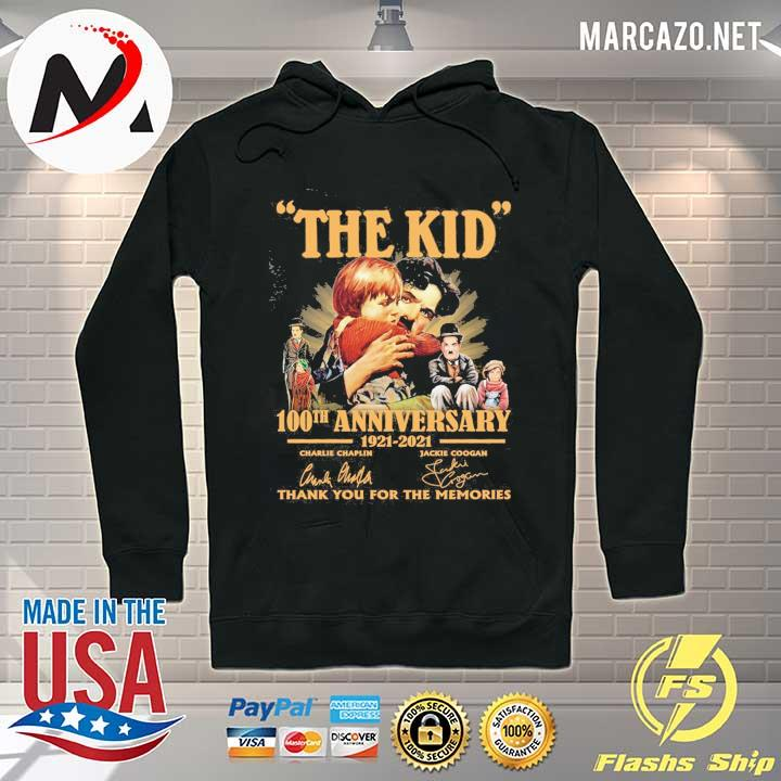 The Kid 100th anniversary 1921 - 2021 Charlie Chaplin Jackie Coogan Signatures Thank You For The Memories Shirt Hoodie