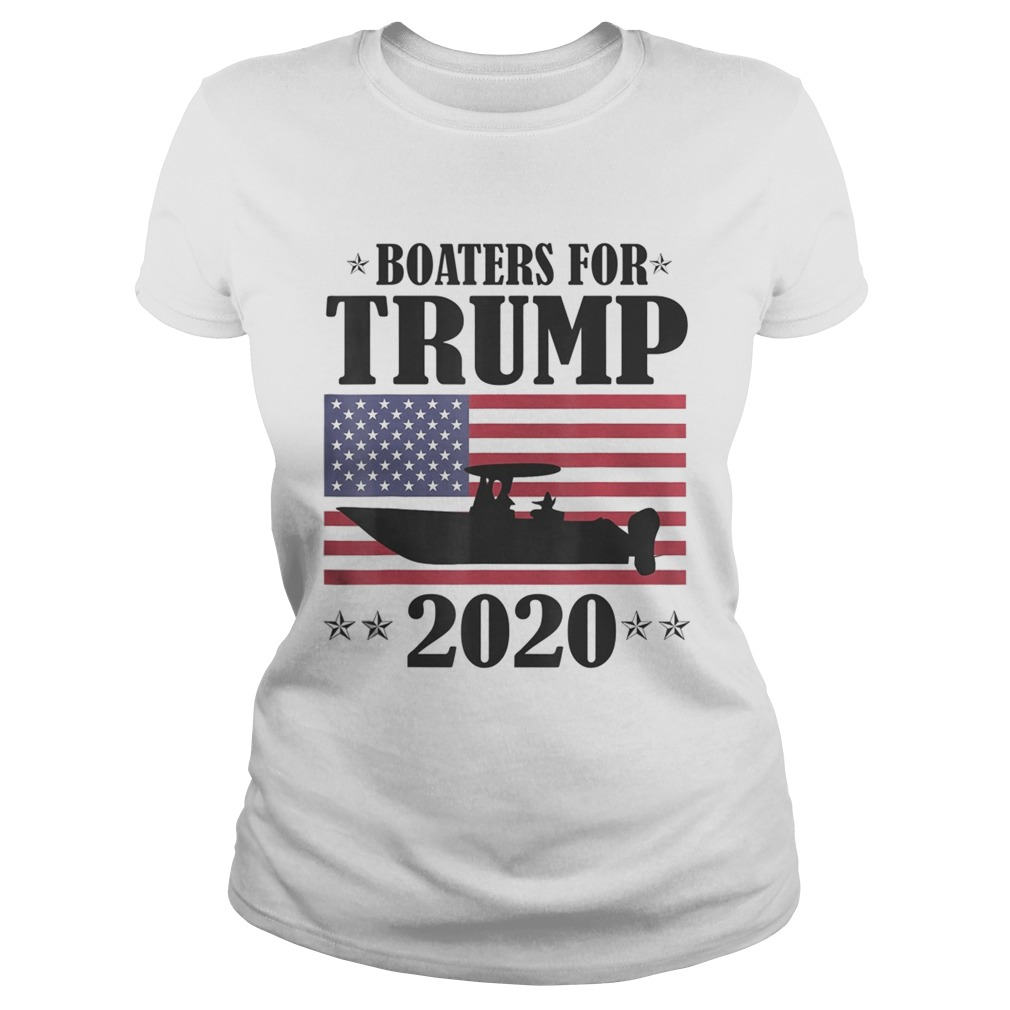Boaters For Trump 2020 Election Slogan Classic Ladies