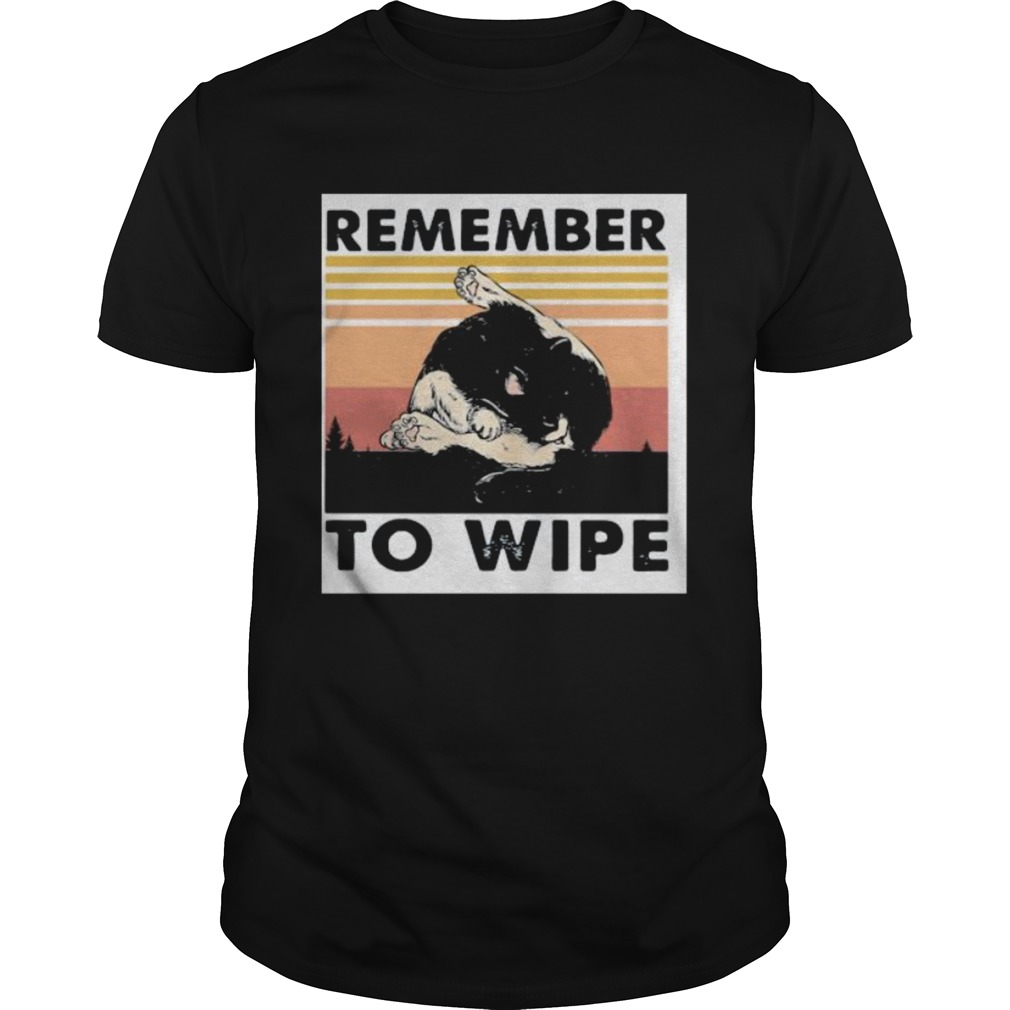 Cat remember to wipe vintage retro Unisex