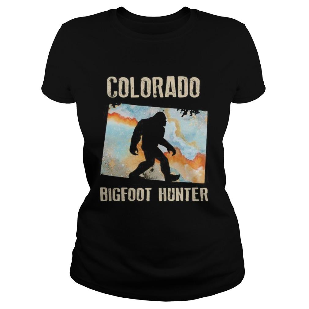 Colorado bigfoot hunter sunset Classic Ladies