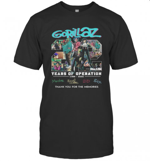 Gorillaz 22 Years Of Operation 1998 2020 T-Shirt Classic Men's T-shirt
