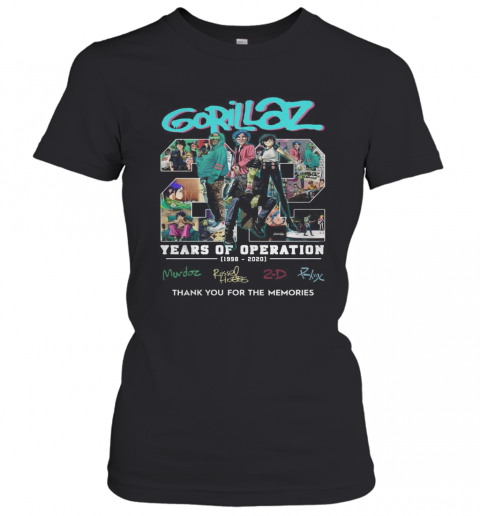 Gorillaz 22 Years Of Operation 1998 2020 T-Shirt Classic Women's T-shirt