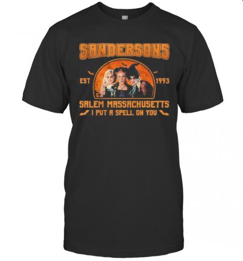 Hocus Pocus Sandersons Est 1993 Salem Massachusetts I Put A Spell On You T-Shirt Classic Men's T-shirt