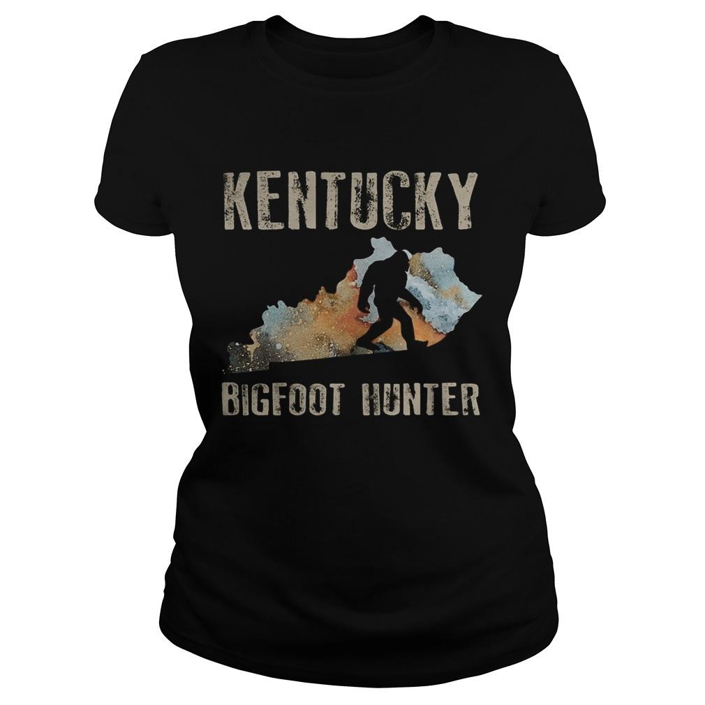 Kentucky bigfoot hunter sunset  Classic Ladies