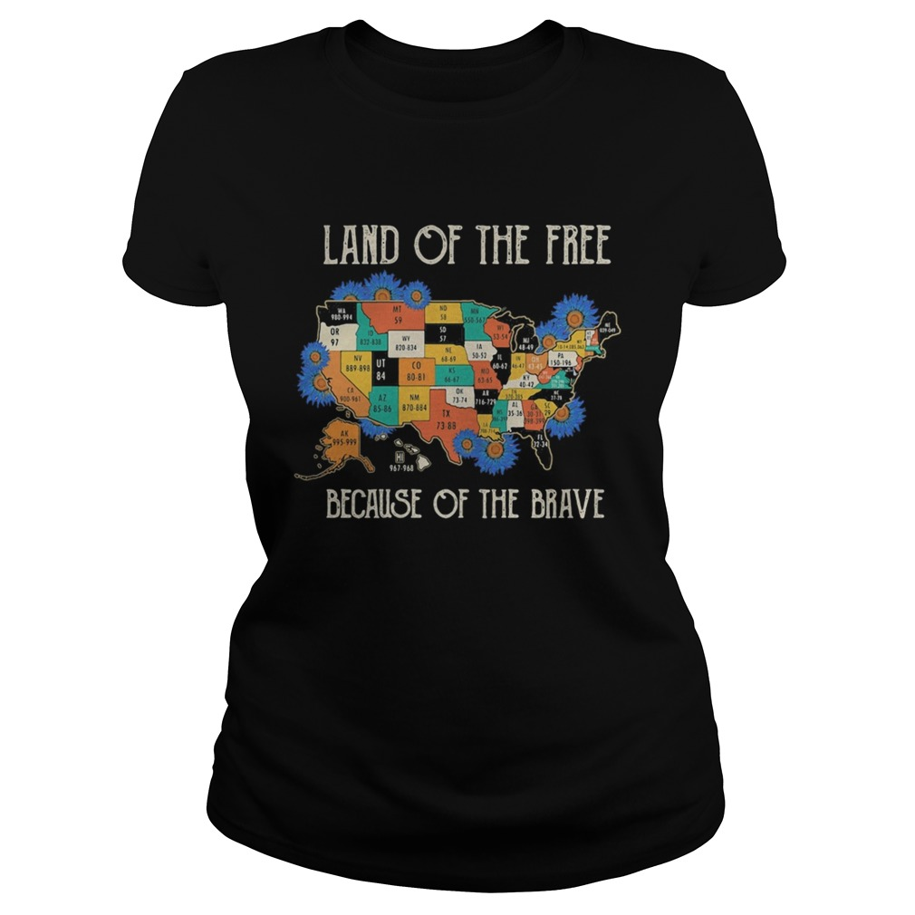 Land of the free home of the brave map covid19  Classic Ladies