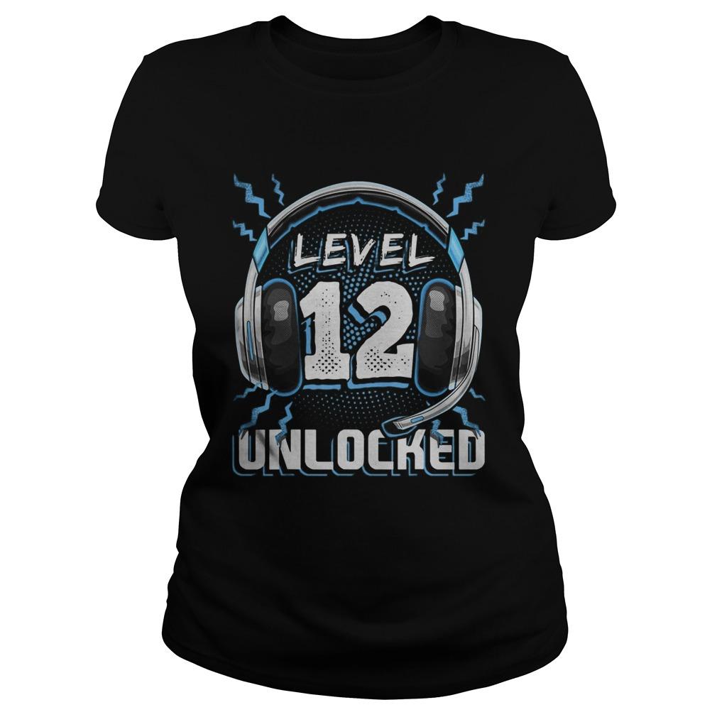 Level 12 Unlocked Video Game 12th Birthday PC Gaming  Classic Ladies