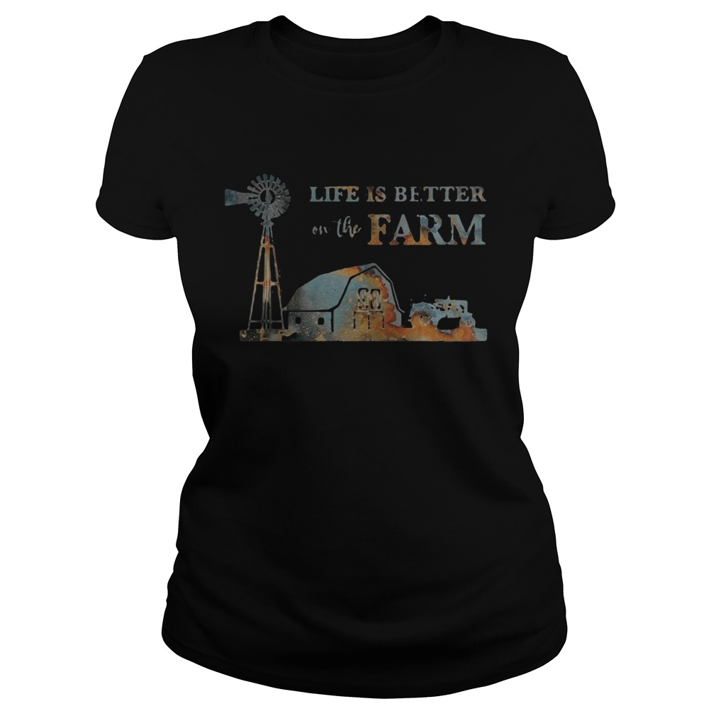 Life is better on the farm sunset  Classic Ladies