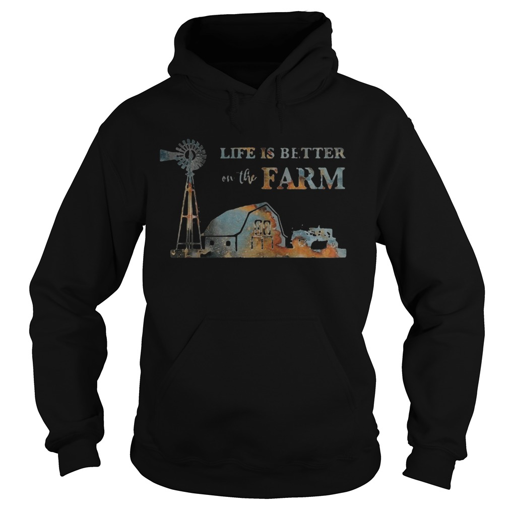 Life is better on the farm sunset  Hoodie