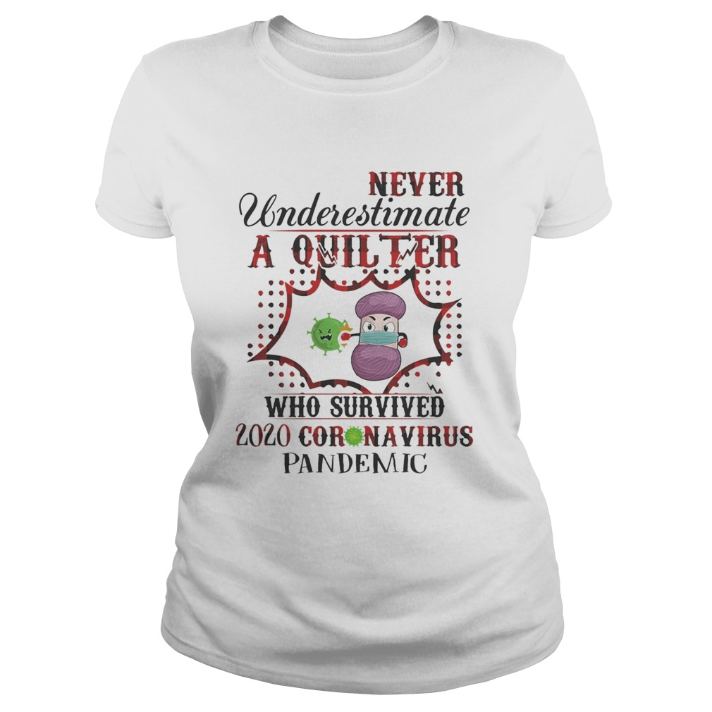 Never underestimate a quilter who survived 2020 coronavirus pandemic Classic Ladies