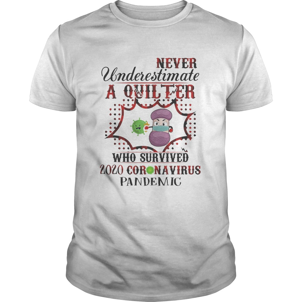Never underestimate a quilter who survived 2020 coronavirus pandemic Unisex