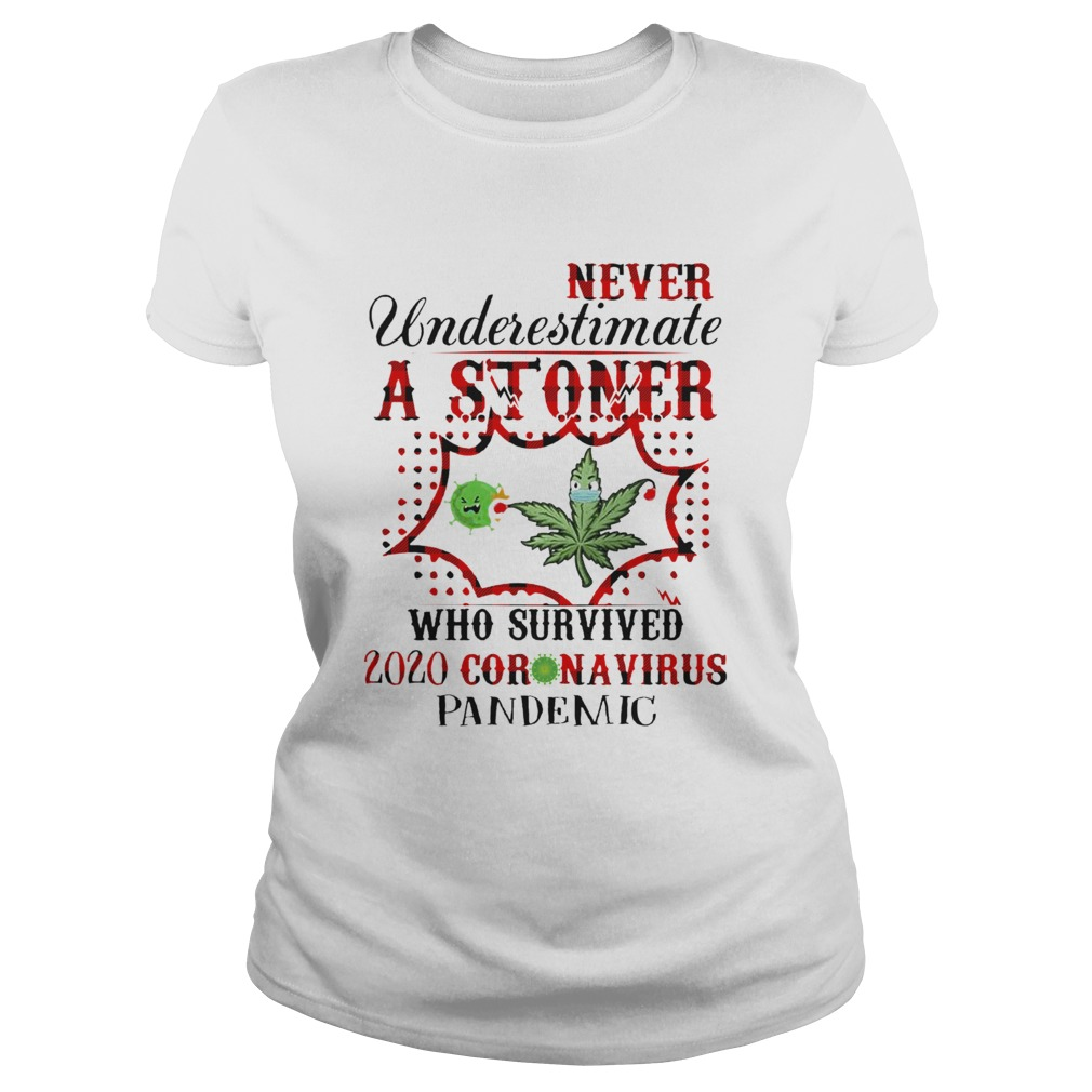 Never Underestimate A Stoner Who Survived 2020 Coronavirus Pandemic Classic Ladies