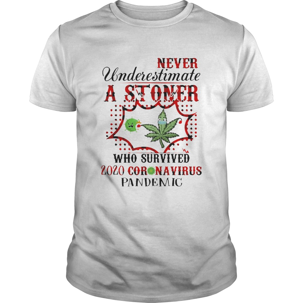 Never Underestimate A Stoner Who Survived 2020 Coronavirus Pandemic Unisex