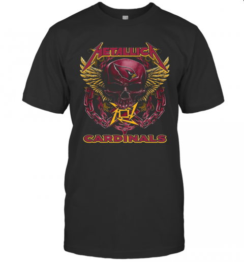 Skull Metallic Cardinals T-Shirt Classic Men's T-shirt
