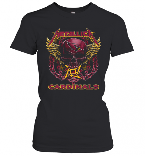 Skull Metallic Cardinals T-Shirt Classic Women's T-shirt