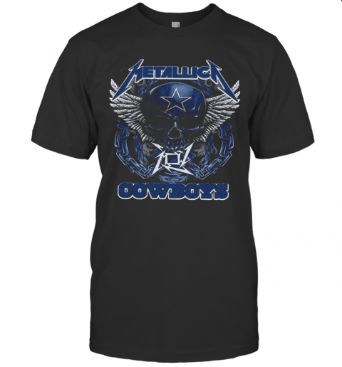 Skull Metallic Cowboys T-Shirt Classic Men's T-shirt