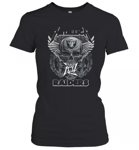 Skull Metallic Raiders T-Shirt Classic Women's T-shirt
