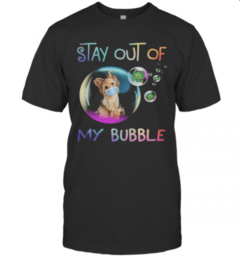 Stay Out Of My Bubble Virus Mask Dog T-Shirt Classic Men's T-shirt