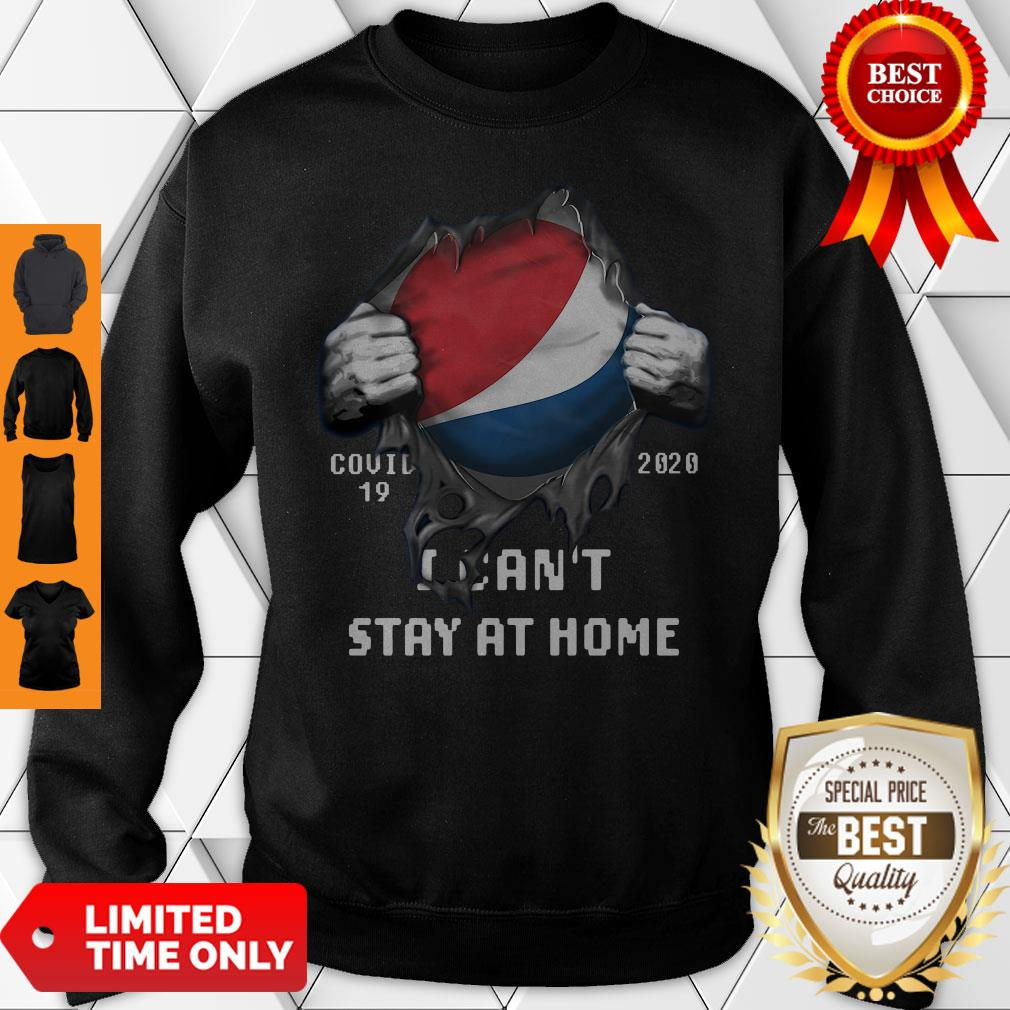 Blood Inside Me Costco Wholesale COVID-19 2020 I Can't Stay At Home Sweatshirt