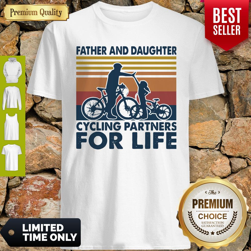 Father And Daughter Cycling Partners For Life Vintage Shirt