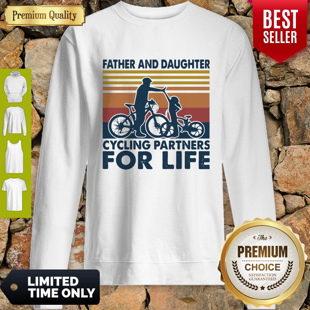 Father And Daughter Cycling Partners For Life Vintage Sweatshirt