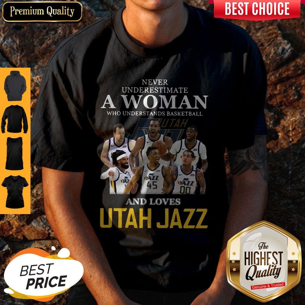 Never Underestimate A Woman Who Understands Baseball And Love Utah Jazz Shirt