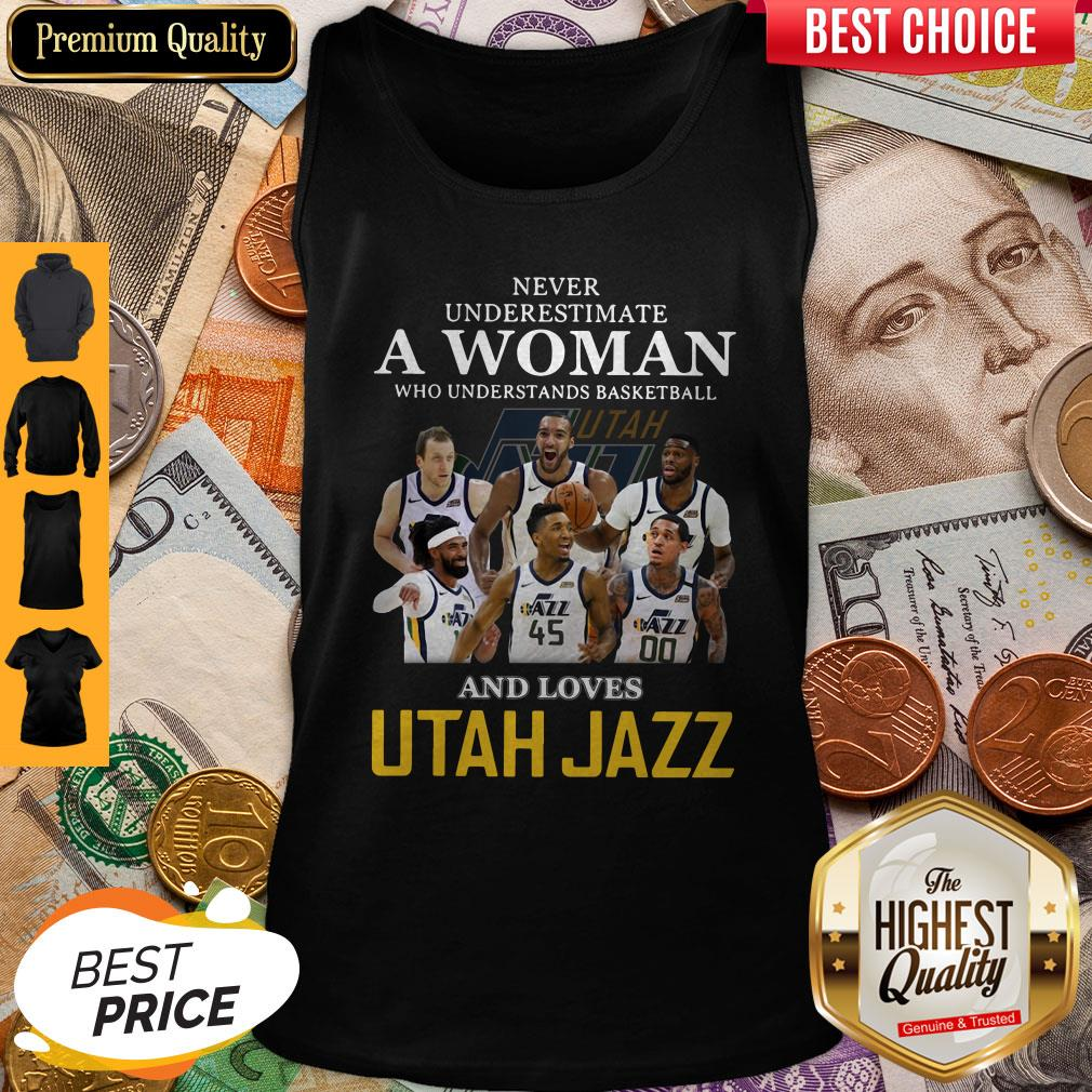 Never Underestimate A Woman Who Understands Baseball And Love Utah Jazz Tank Top