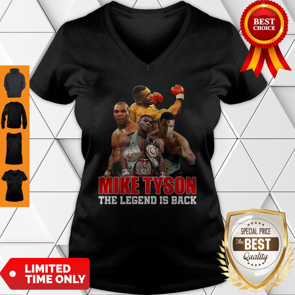 Official Mike Tyson The Legend Is Back V-neck