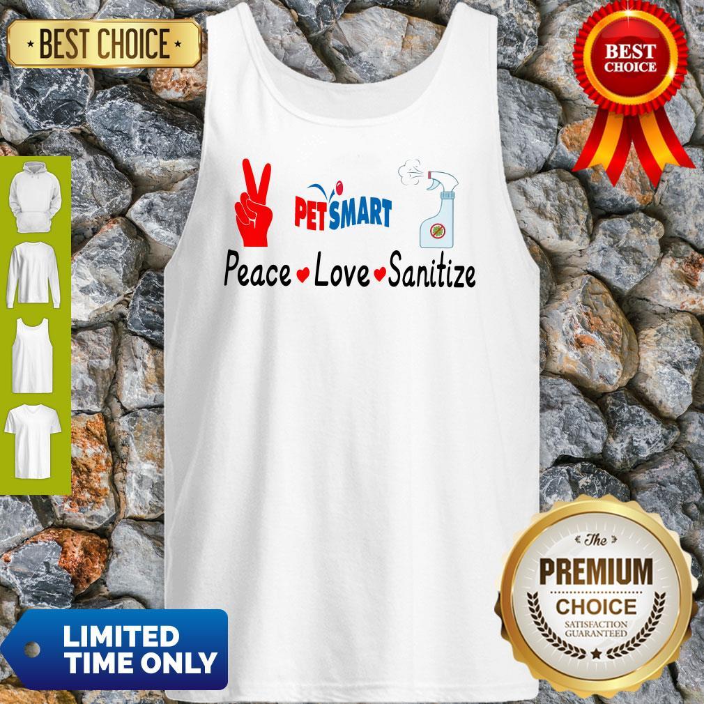 Official Petsmart Peace Love Sanitize Tank Top