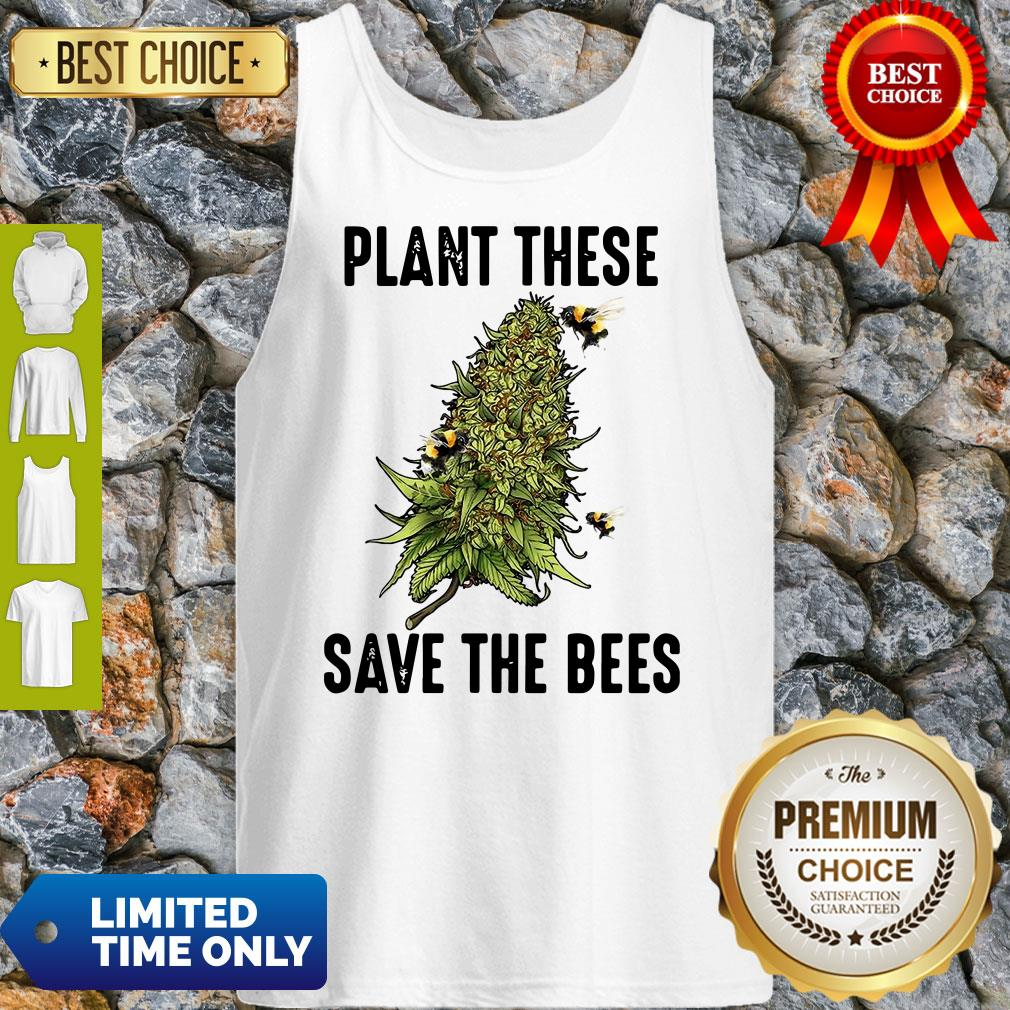 Official Plant These Save The Bees Tank Top